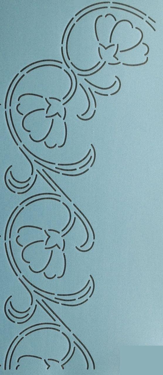 "Poppy Border 3.5"" - The Stencil Company"