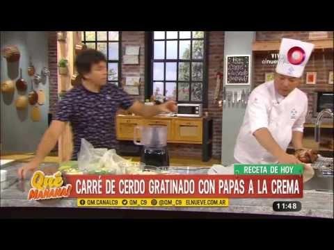 Receta de hoy: carré de cerdo gratinado con papas a la crema - YouTube