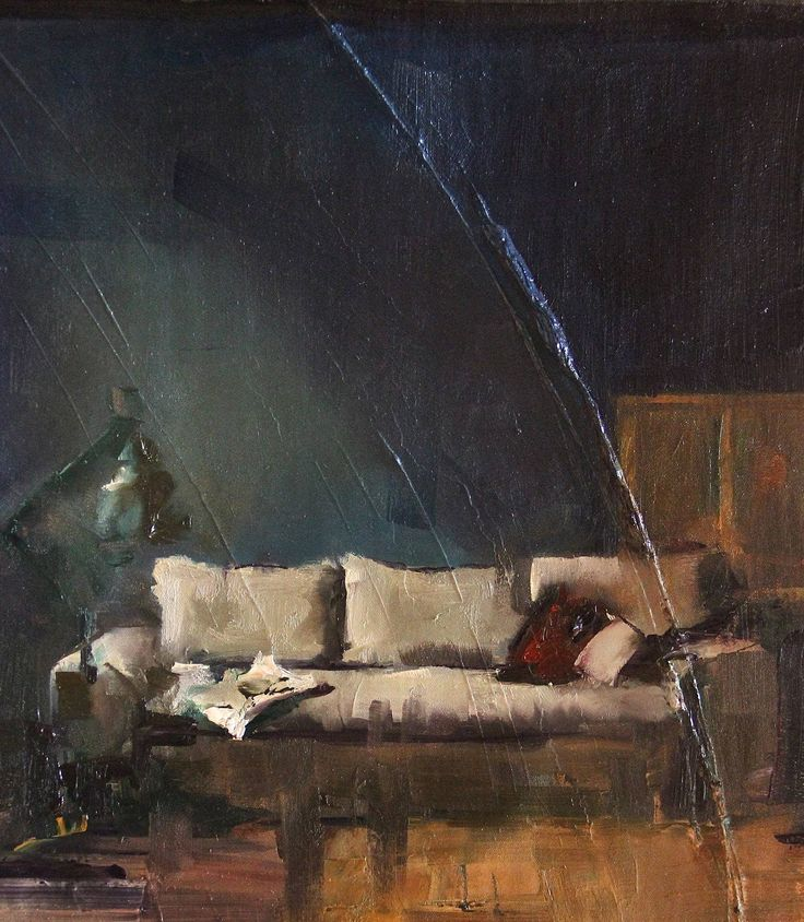 "Saatchi Art Artist: Fanny Nushka Moreaux; Oil 2013 Painting ""Blue Room, 2013"""