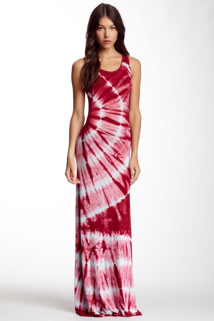 Go Couture Tie Dye Racerback Maxi Dress By On Hautelook