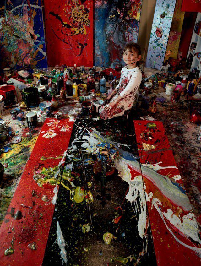 Aelita Andre es una artista de 7 años de Melbourne, Australia.