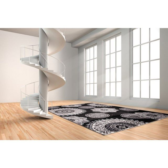 tapis aux velours fins contemporain noir meta allotapis escalier pinterest velours tapis. Black Bedroom Furniture Sets. Home Design Ideas
