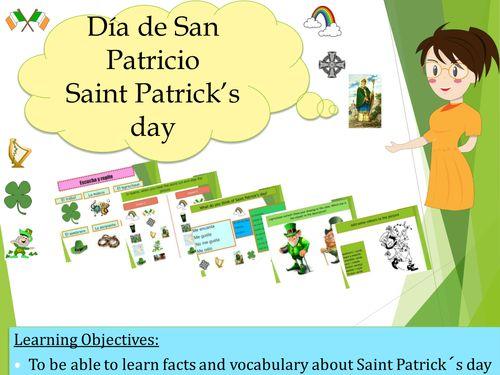 Spanish St-patrick day (lesson+exercices)/ Dia de San Patricio (No prep)