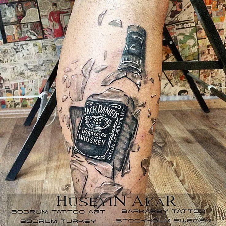 jack daniels tattoo black and gray tattoo bodrum tattoo huseyin akar bodrum tattoo art barkarby tattoo bodrum dövme sanati