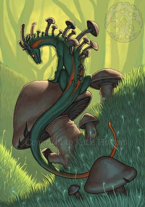 Mushroom Dragon by *Shadow-Wolf on deviantART | Artsie ...