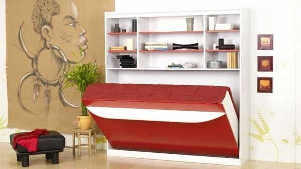 Armoire Lit Escamotable Verticale 160x200 Cm Avec Canape En Tissu Et Coffre De Rangement Joy Lit Escamotable Armoire Lit Escamotable Lit