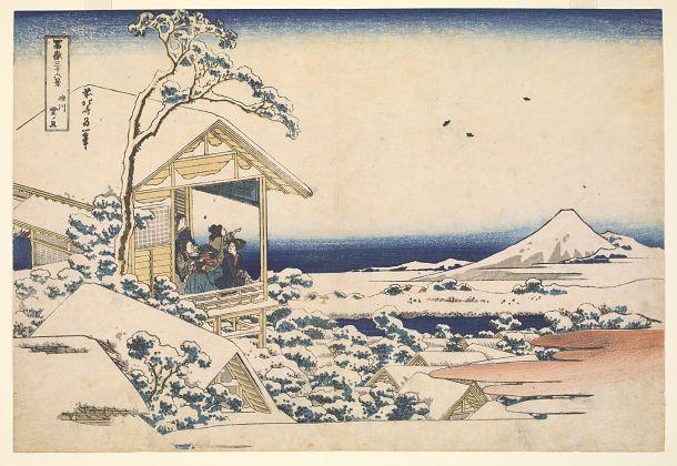 Snowy Morning at Koishikawa from the series Thirty-six Views of Mt. Fuji | Katsushika Hokusai | Japan | Woodblock print | ca. 1823-1831 | Edo period | Freer and Sackler | F1974.61