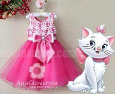 Vestido Infantil de festa Gatinha Marie