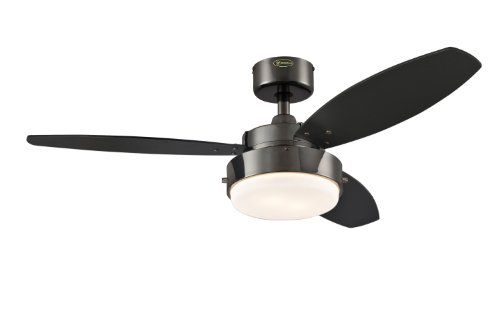 Westinghouse 7876400 Alloy Two-Light 42-Inch Reversible Three-Blade Indoor Ceiling Fan, Gun Metal with Opal Frosted Glass Westinghouse,http://www.amazon.com/dp/B004SCFC2W/ref=cm_sw_r_pi_dp_LRC6sb0SKS1YFNAV
