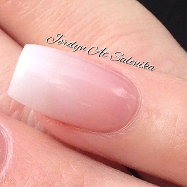 BEAUTIFUL ombré nails by @jordynjnl using Natural White, Pinkest Pink and Clear Acrylic!