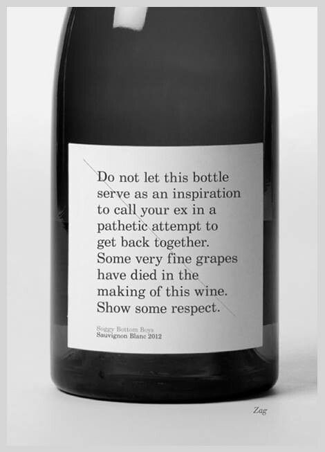 Packaging / Wine bottle warning label — Designspiration