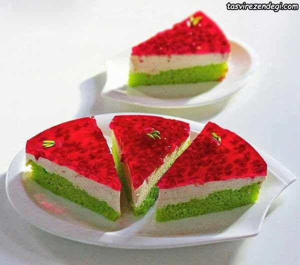 طرز تهیه چیز کیک هندوانه دسر مجلسی برای شب یلدا مجله تصویر زندگی Charcuterie Recipes Food Persian Food