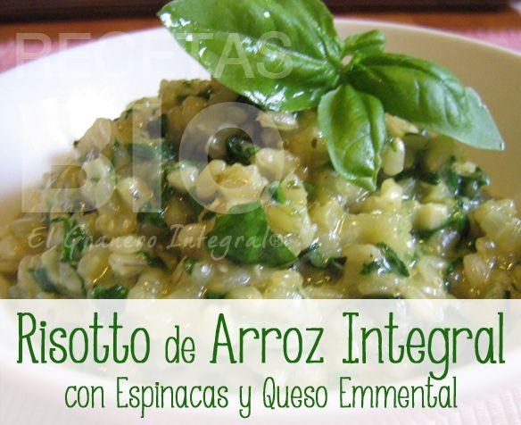 Receta risotto de arroz integral con espinacas y queso - Risotto arroz integral ...