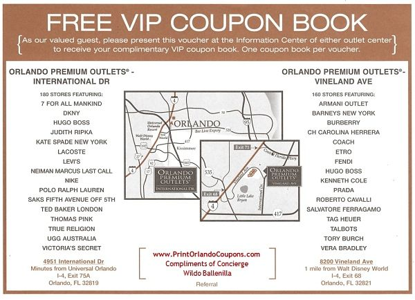 seattle premium outlets coupon book