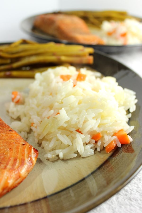 This recipe for Jasmine Rice with Sauteed Carrots and Onions is the perfect side for any dinner!