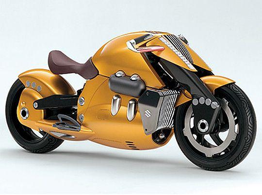 Concept Motorcycle of the past: 2007 Suzuki Biplane
