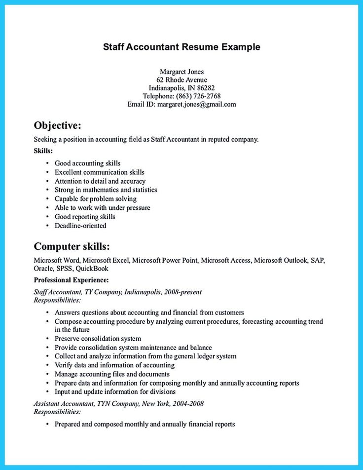 Nice Sample For Writing An Accounting Resume,  Accounting Skills Resume