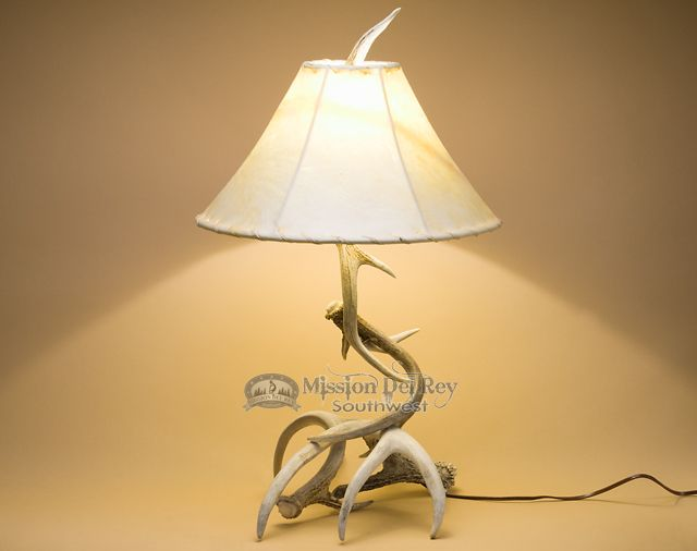 "Mission Del Rey Southwest - Genuine Antler Lamp 23"" - White Tail Deer(http://www.missiondelrey.com/genuine-antler-lamp-23-white-tail-deer-al4/)"