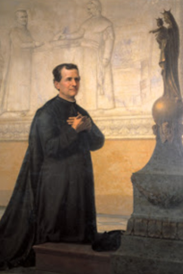 """Why is it that we have so little liking for spiritual things? This is because we love Jesus Crucified so little."" Don Bosco #SaintOfTheDay #saint #Catholic"