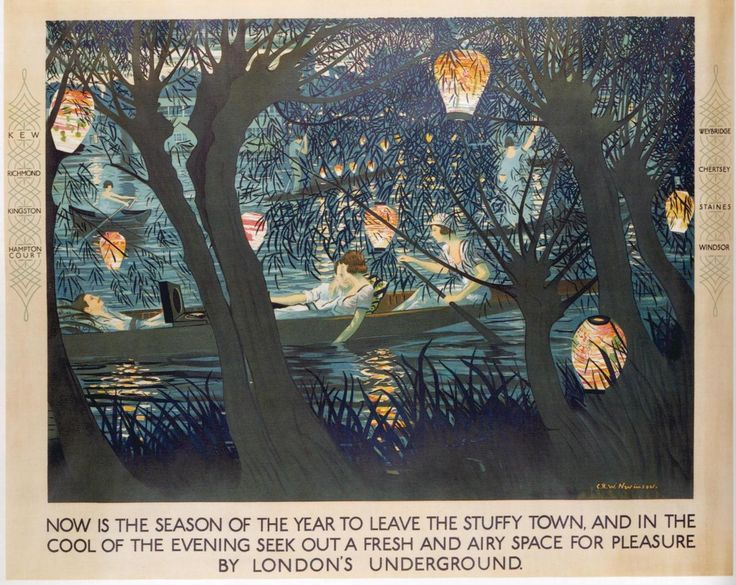 London Underground Poster by C. R. W. Nevinson (1889–1946)