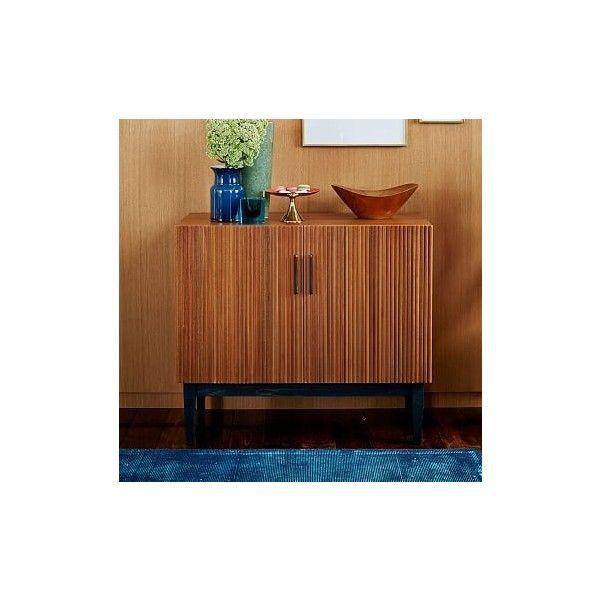 west elm reede bar cabinet low walnut bar carts kitchen storage