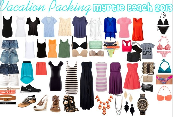 my personal packing list for vacation! i always overpack :)
