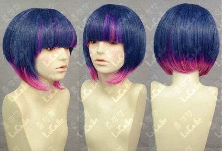 Горячая распродажа! Косплей новый синий и розовый парик боб * горячая распродажа тепло - упорное благодать мать ну вечеринку женщины невеста cosplays