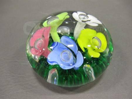 Joe St Clair Paperweight Art Glass Glass