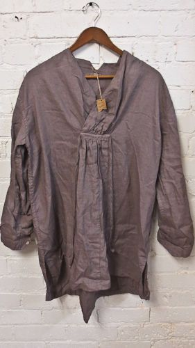 CP SHADE 100% LINEN EARTH WOMEN'S TUNIC /SHIRT DRESS LAVENDER COLOR SIZE SMALL #CPShades #Tunic #Casual