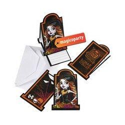 Inviti con busta Monster High Cemetery 6 pezzi