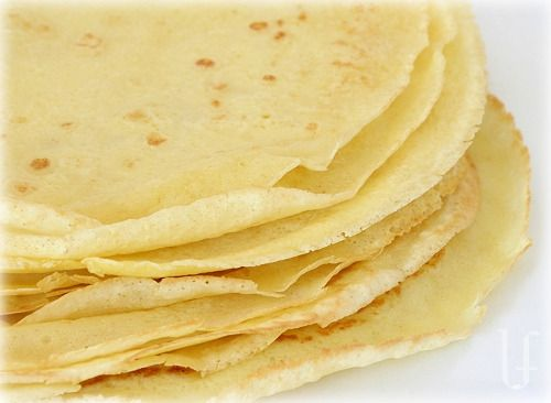"Crepes    (Low-carb, higer-protein)    I use these in so many more ways than just ""crepes"".   In both sweet or savory recipes, as wraps, tortillas, noodles – they are a great way to still make those dishes you love without the unneeded carbs."