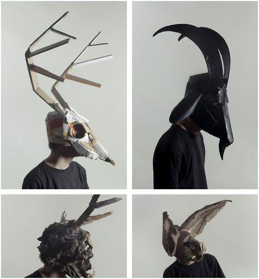 Cardboard Masks by Josef Mrva