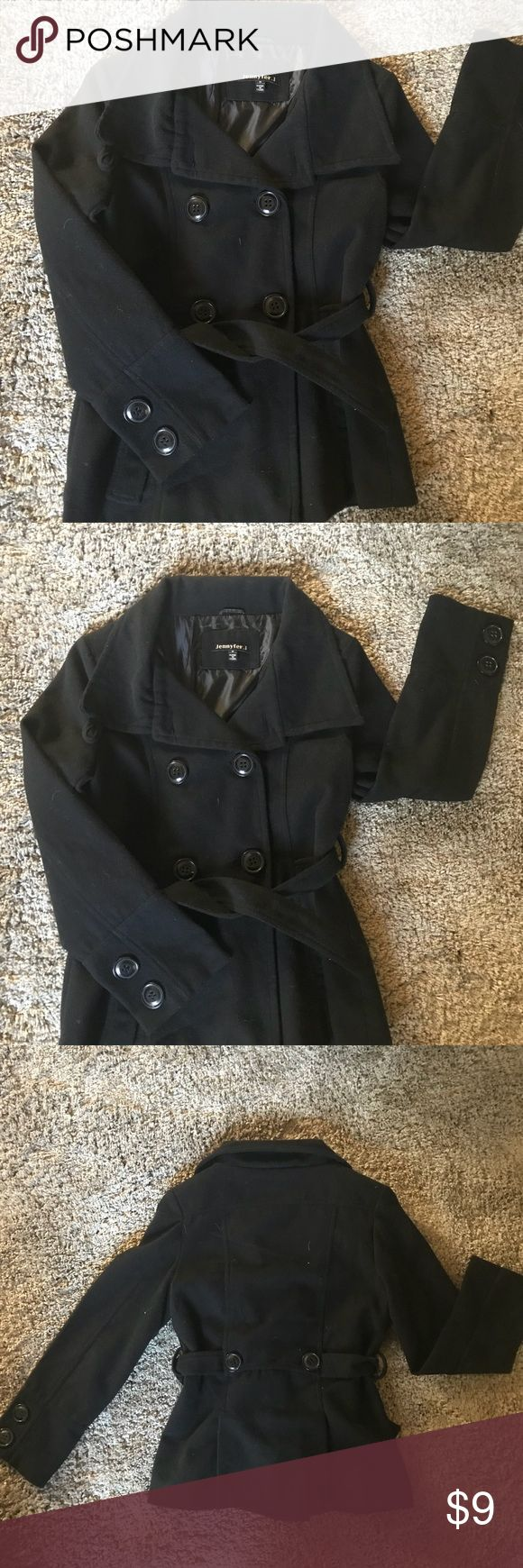 Burlington Coat Factory Dress Coat Waist length black coat from Burlington Coat Factory.   Worn maybe twice  No rips or stains  There are little coat hairs on it from being next to a furry coat of mine in closet. Easily fixed with a lint roller  Open to offers Jackets & Coats Pea Coats