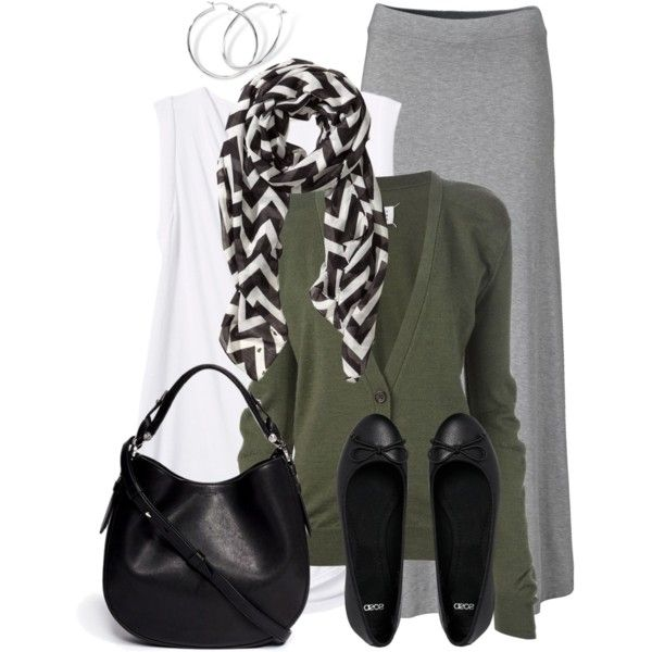 Maxi Skirt & Cardigan, created by wishlist123 on Polyvore