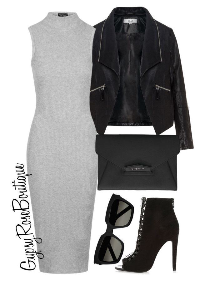 """""""#369"""" by gypsyroseboutique on Polyvore featuring Zizzi, Topshop, River Island, Givenchy and Yves Saint Laurent"""