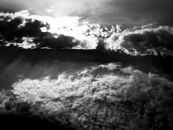 #photography #black and white #sky #sun #clouds #light contrast #art #artleanda    artleanda.com
