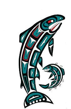 Native American Art | northwest fine art | Totem Art | Salmon and Fry