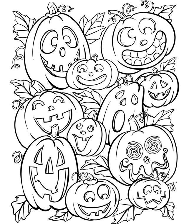 Jack O' Lanterns on coloriage halloween à
