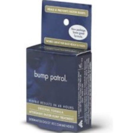 Bump Patrol Aftershave Razor Bump Treatment, Original Formula 0.5 oz, Beige