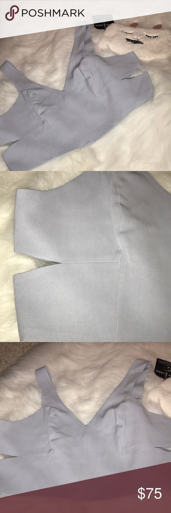 Dolce Vita crop top Stunning dolce vita crop top and silver gray, size large, new with tags. Bust is about 36 inches while waist is about 34. Measurements are approximate Dolce Vita Tops Crop Tops