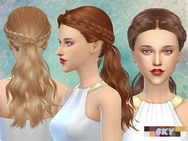 The Sims Resource: Skysims Hair 270 Tina • Sims 4 Downloads
