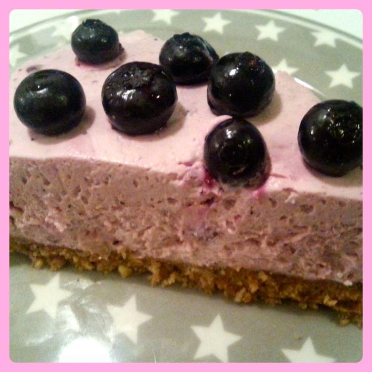 Lækre opskrifter der virker: Nem blåbær cheesecake