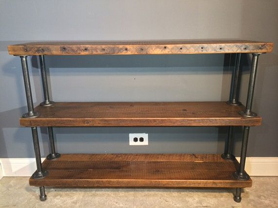 Reclaimed rustic shelving great fora hallway, sofa table or even & sideboard fora rustic formal dining room