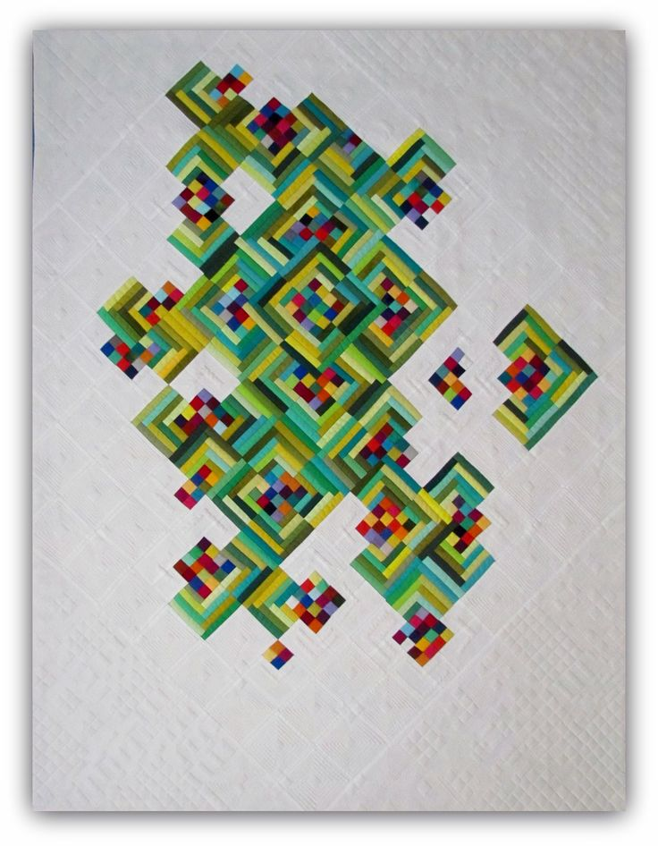 Not Easy Being Green, pieced and quilted by Mary Keasler. QuiltCon 2017 Award Winners | MQG Community