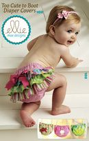 Kwik Sew Too Cute To Boot Diaper Covers Pattern - so cute!: Kwik Sewing, Boots Diapers, Baby Girls, Diapers Covers Patterns, Ellie Mae, Diaper Covers, Sewing Machine, Ruffles, Sewing Patterns