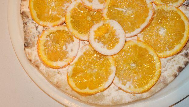 Pizza de laranja enviada por Domingão do Faustão no dia 24/01/2014