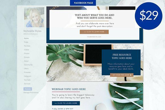 Welcome This Is The Facebook Page Canva Templates Makeover Your Business In Minutes Sprucing Up