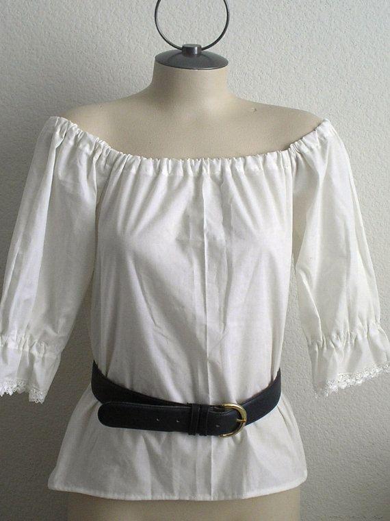 Renaissance romantique femmes Chemise Wench Pirate chemise mariage, théâtrales, Costume