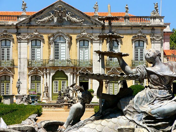 The Queluz National Palace is one of best Baroque examples in Portugal (although some rococo style details in its facade).