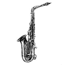 daily drawing week 8 saxophone 2: alto II a squiggly-er sax